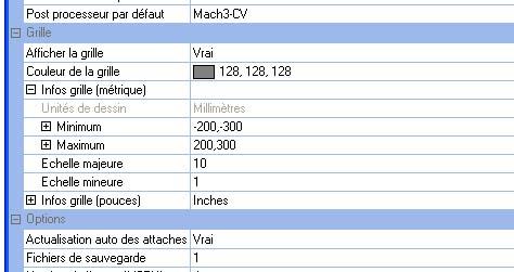 Paramétrer la grille de Cambam Cb_reg10