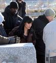 Angelina fazendo mais cenas de SALT,em frente o rio Hudson,em NY 29.12.09 0211