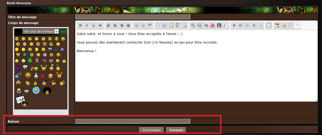 [Tutoriel] Utiliser le forum Editer12