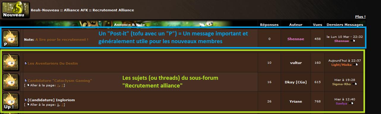 [Tutoriel] Utiliser le forum Thread10