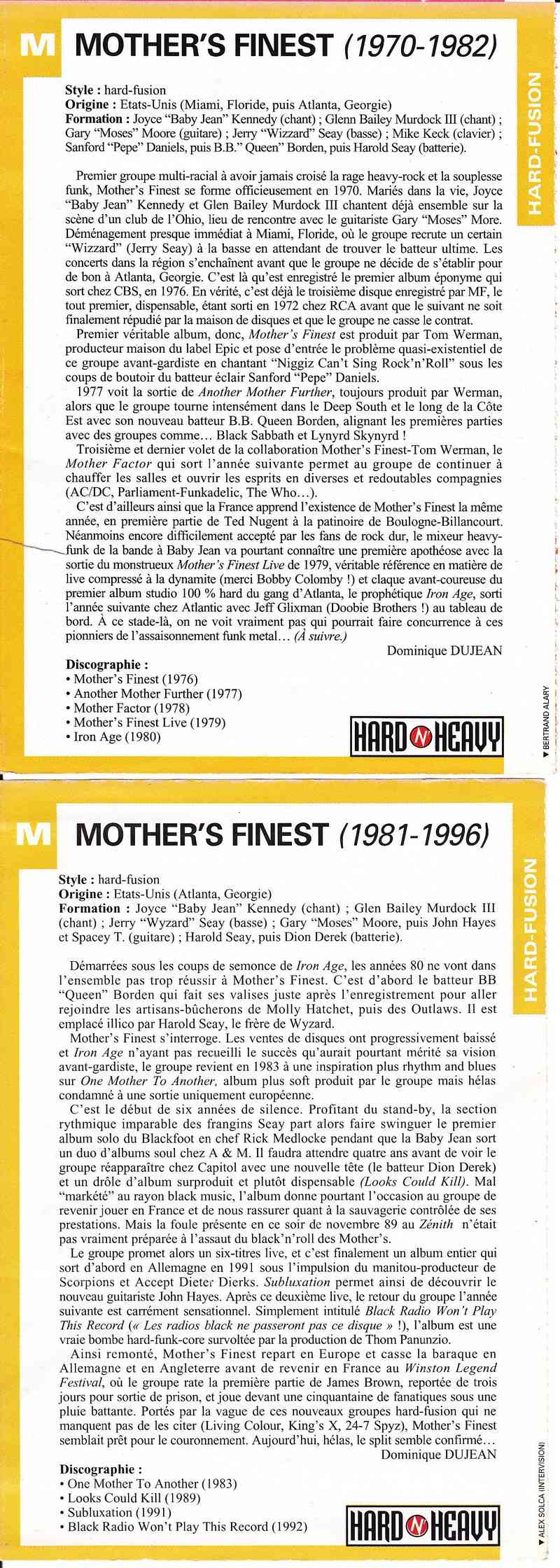 Mother's Finest Texte110