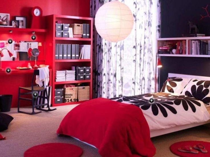 Chambre d'ado thème NY avec du rouge C9883610