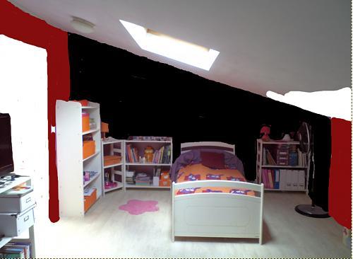 Chambre d'ado thème NY avec du rouge Cbre_t10