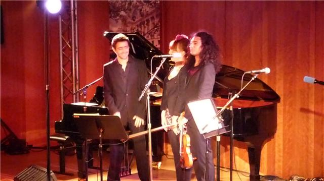 Nemanja Radulovic au Petit Palais avec Zaza Fournier le 07 Janvier 2010 Nr_0210