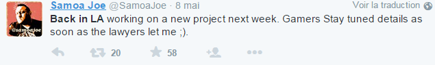 [WWE 2K16] Samoa Joe bientôt annoncé ? Tweet10