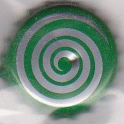 Spirale argentée - Motif doré sur fond bleu Dessin17