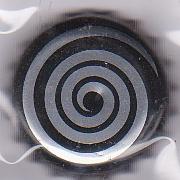 Spirale argentée - Motif doré sur fond bleu Dessin18
