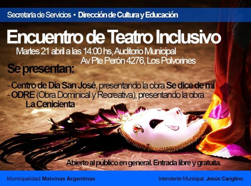Malvinas Argentinas: Teatro inclusivo. 10644510