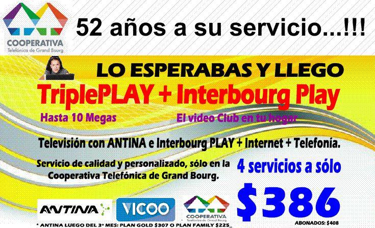 En Malvinas Argentinas: Cooperativa Telefónica de Grand Bourg. Aviso_20