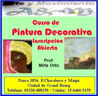 curso - Malvinas Argentinas: Curso de pintura decorativa. Aviso_21