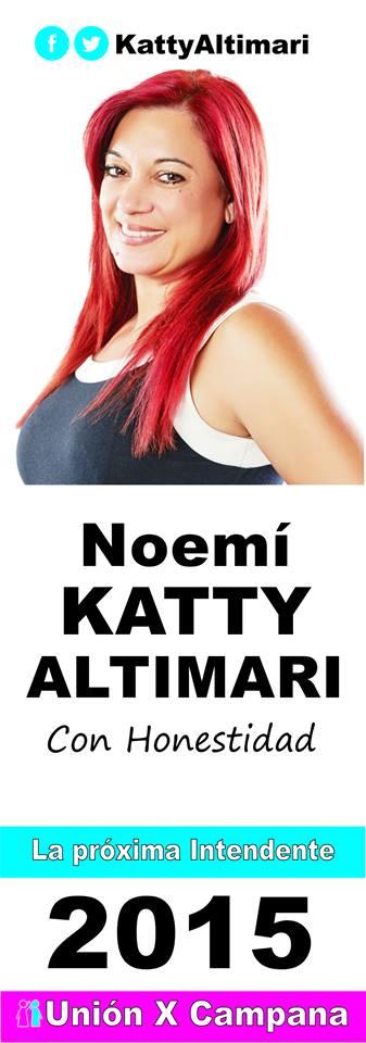 En Campana, sin dudar. Katty Altimari y Unión por Campana. Aviso_22