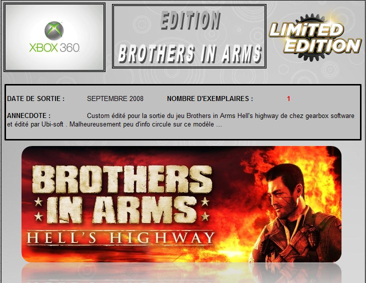 XBOX 360 : Edition BROTHERS IN ARMS Brothe10