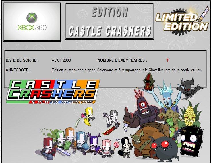 XBOX 360 : Edition CASTLE CRASHERS Castle10