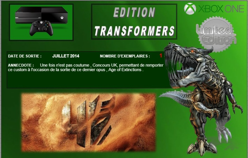 XBOX ONE : Edition TRANSFORMERS AGE OF EXTINCTION Transf10