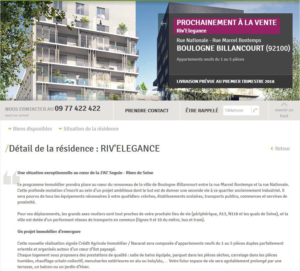 Informations sur Riv'Elégance Clipbo32
