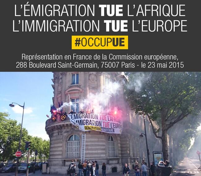 L'émigration tue l'Afrique, l'immigration tue l'Europe Occupu10