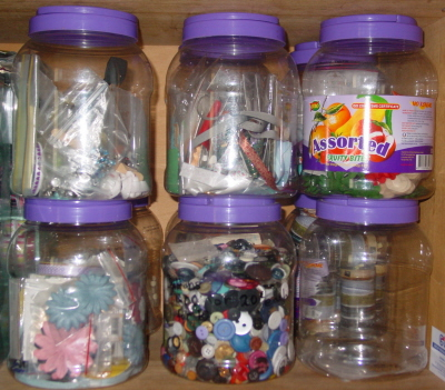 Lolly jars for storage! Dsc05510
