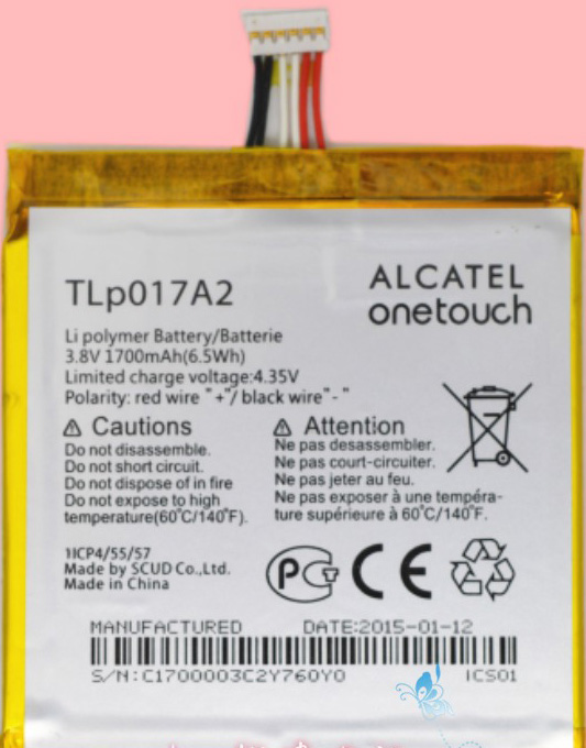 Alcatel One Touch TLp017A2 Tb2bfr10