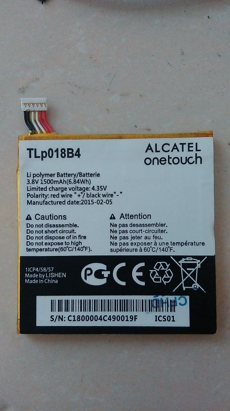 Alcatel One Touch  Battery TLp018B4 Tb2h0p11