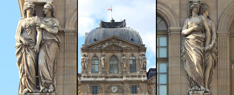 ARCHITECTURE : cariatides et atlantes Louvre11