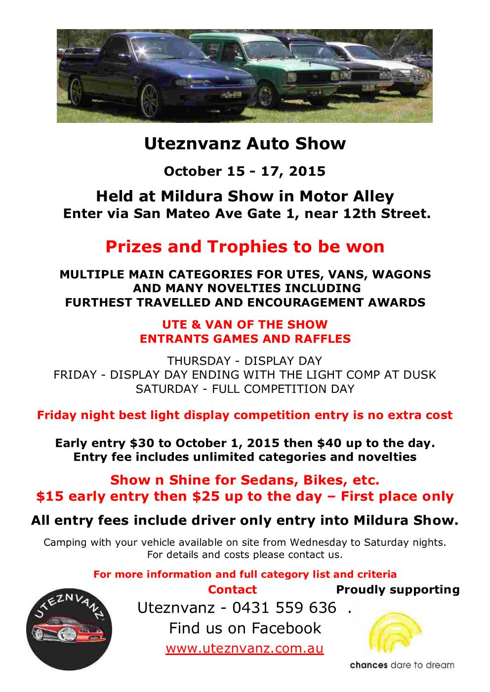 UTEZNVANZ Auto Show, Mildura: 15-17 October 2015. 2015_u10