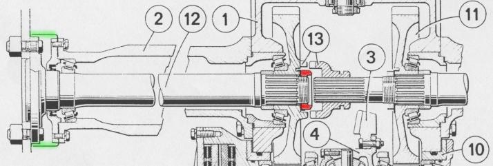 Comment déposer écrou arbre de roue Droite Renault 651 Arbrer11