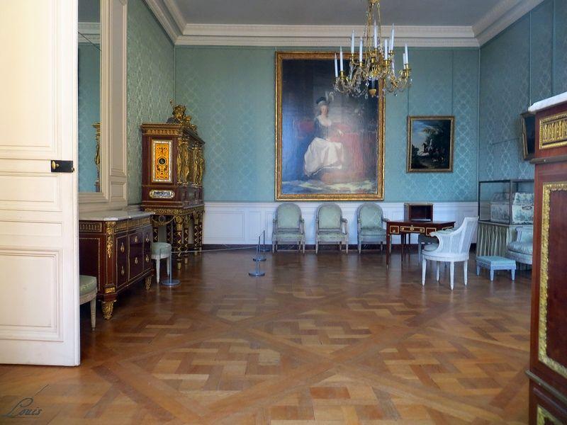 Chambre à coucher du Petit appartement de Marie-Antoinette, au rez-de-chaussée du château de Versailles Img_8810