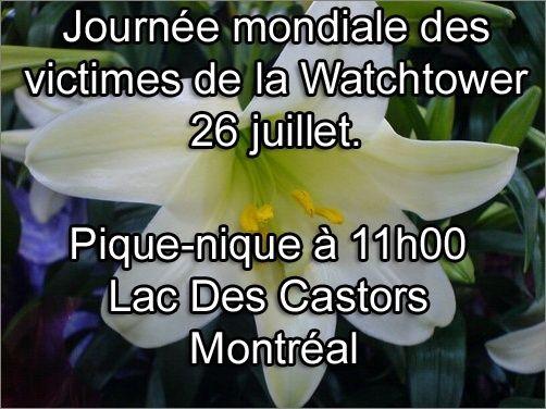 Journée Mondiale des Victimes, (Survivants) de la Watchtower 26 juillet 2015 Memori10