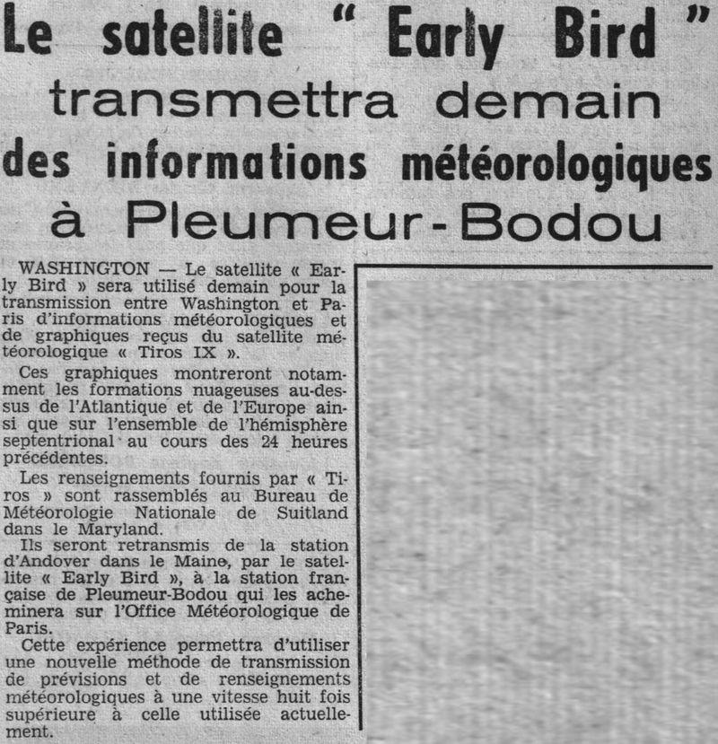6 avril 1965 - Early Bird (INTELSAT 1) - La Mondovision 65061510