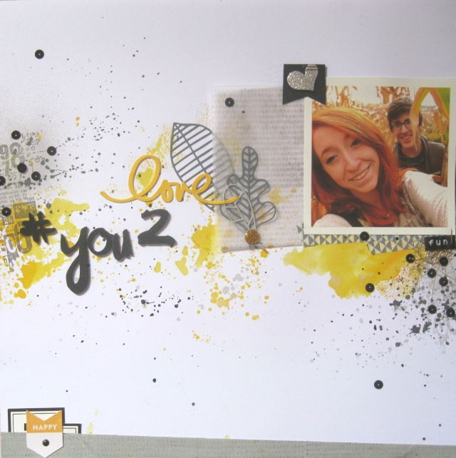 Challenge Scrapbooking Day n°6 : Steph63 Love_y14