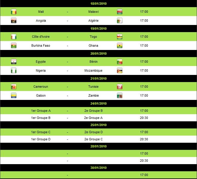 جدول والقنوات المفتوحة التى ستذاع عليها بطولة كأس امم افريقيا 2010 Q8lots11