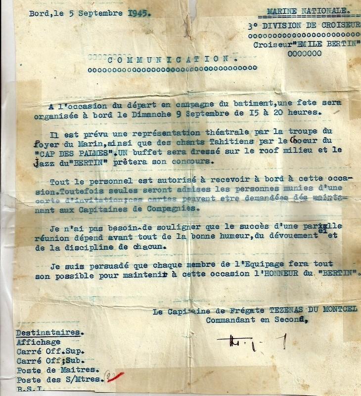 EMILE  BERTIN (Croiseur) Numari48