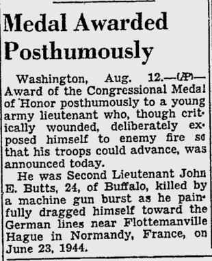 Medal of Honor - John E. Butts (Newspaper) Medal_11