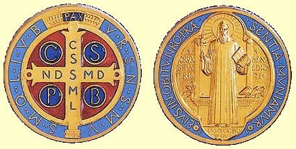 Médaille ou porte-clé St-Benoît Benedi12