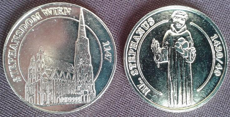 Médaille Cathédrale St Christophe de Vienne Autriche Cathyd10