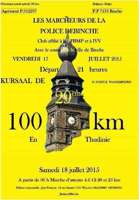 100km en Thudinie; Binche (B): 18 juillet 2015 Binche10