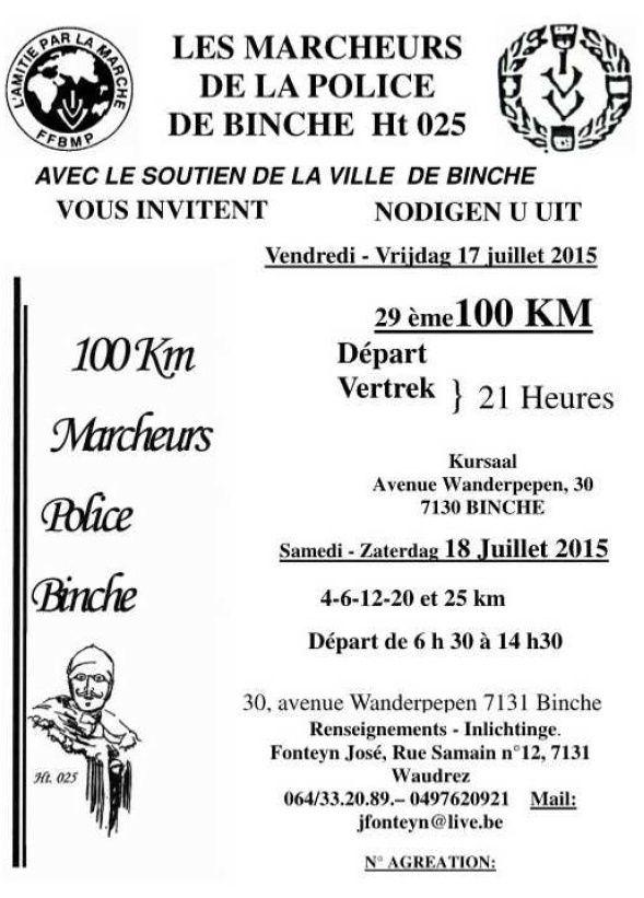 100km en Thudinie; Binche (B): 18 juillet 2015 Binche15