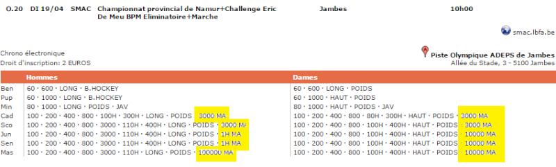 1h, 10.000m, 3000m: Jambes (B): 19 avril 2015 Jambes10