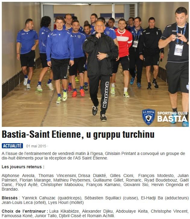 J35 / Jeu des pronos - Prono Bastia-St Etienne S76