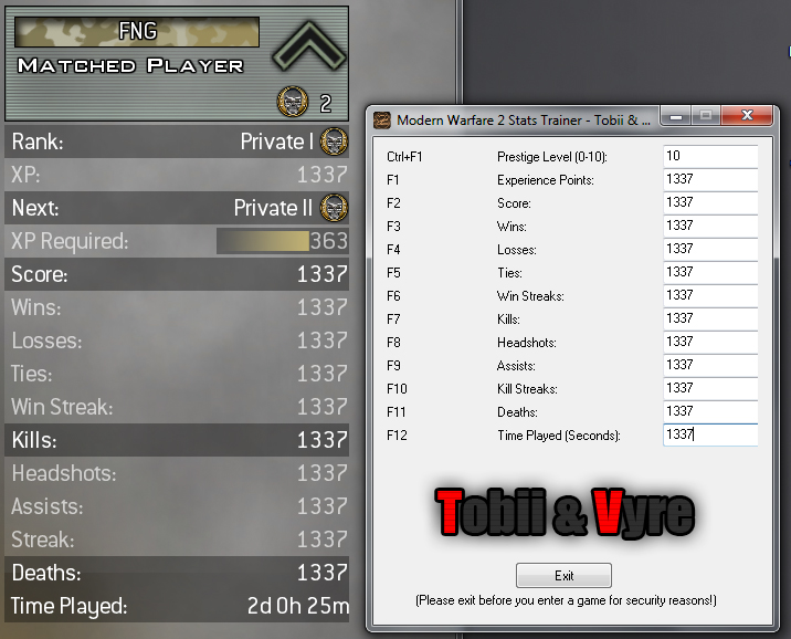 Call Of Duty (6) Modern Warefare 2 (1.0.80 Stats Trainer [All Stats!]) Mw2hac11