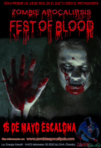 Zombie Apocalipsis VI: ZASIX Fest of Blood 16/05/15 NOCTURNA                                                                                                                                                                                                    Cartel16