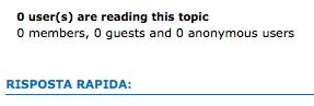 Utenti che stanno leggendo un topic Scherm16