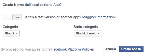 Facebook connect per Forumattivo Scherm29