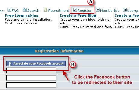 Facebook connect per Forumattivo Scherm34
