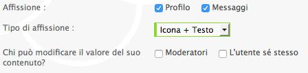 Cancellare e aggiungere sezioni profilo Scherm45