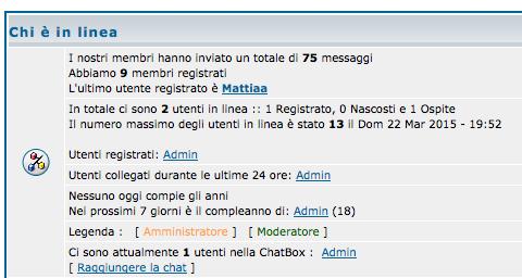 Statistiche forum Scherm55