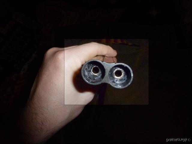 [DarkyGarage]  Projet Double Barrel Gun sur base coach gun denix P1030314