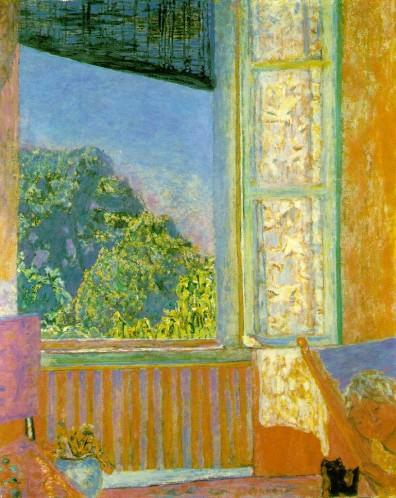 Bonnard, la peinture, la tonalité, la partie de cache-cache devant la cheminée. Bonnar17
