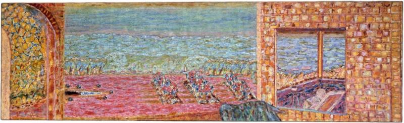 Bonnard, la peinture, la tonalité, la partie de cache-cache devant la cheminée. Bonnar18
