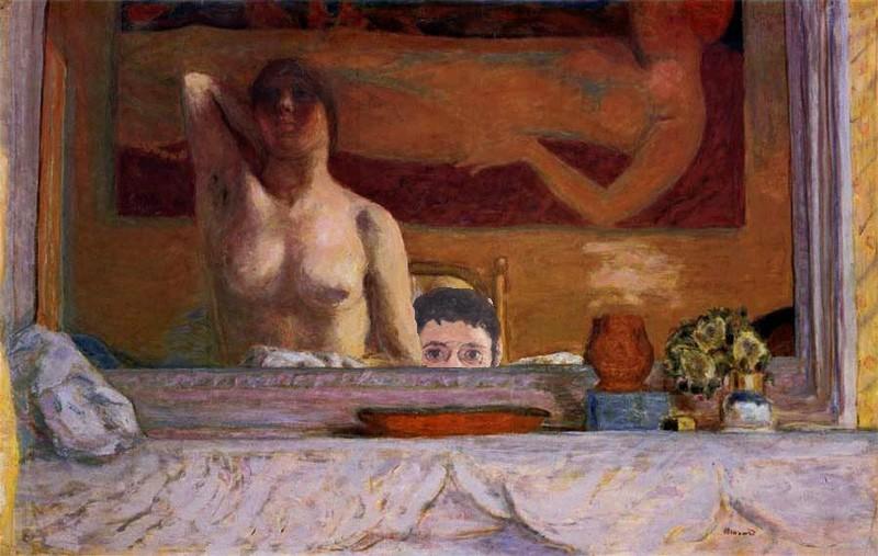 Bonnard, la peinture, la tonalité, la partie de cache-cache devant la cheminée. Bonnar20